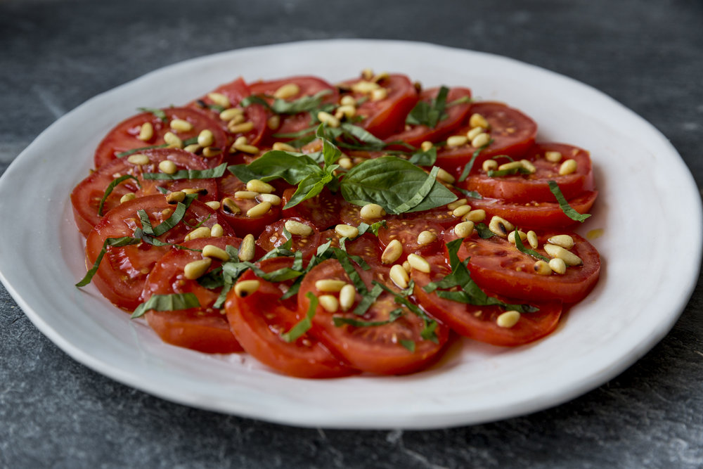 Week 40 – July 28th tomato, pine nut and basil salad15.JPG