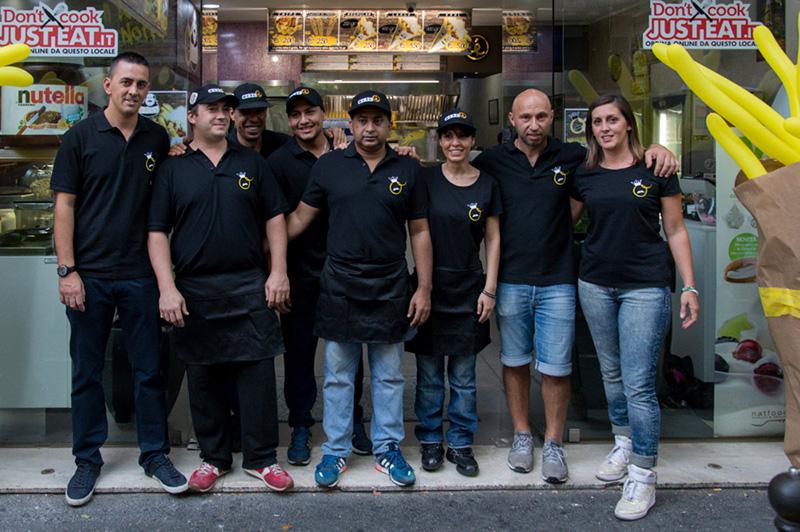 Staff paninoteca Orfeo Roma