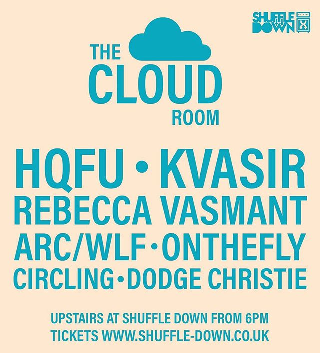 Full Cloud Room line-up for Shuffle Down! Get your tickets! #shuffledown #musicfestival #electronicmusic