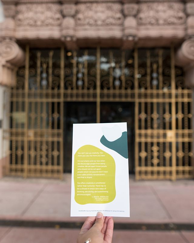 Stepping into the gorgeous @wolfsonian to attend Brand New Mornings back in February. This Saturday, the 21st, we are at it again to talk all things creativity and activism. Dive into workshops and topics to help grow your creative projects and businesses as activism takes the lead.Tag a friend and grab some tickets - link in bio. #brandnewmornings 📷: @gabyojeda