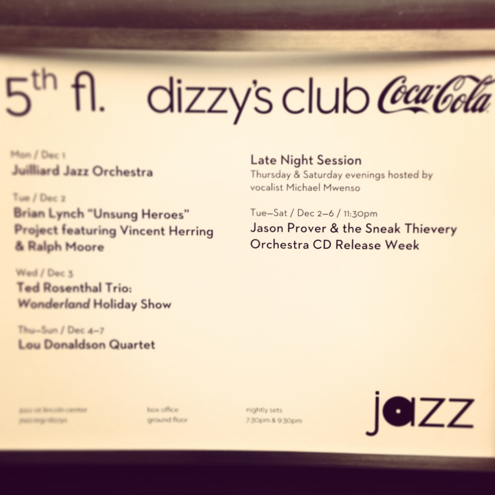 Sneak Thievery Orchestra Album Release Week at Dizzy's Club Coca-Cola