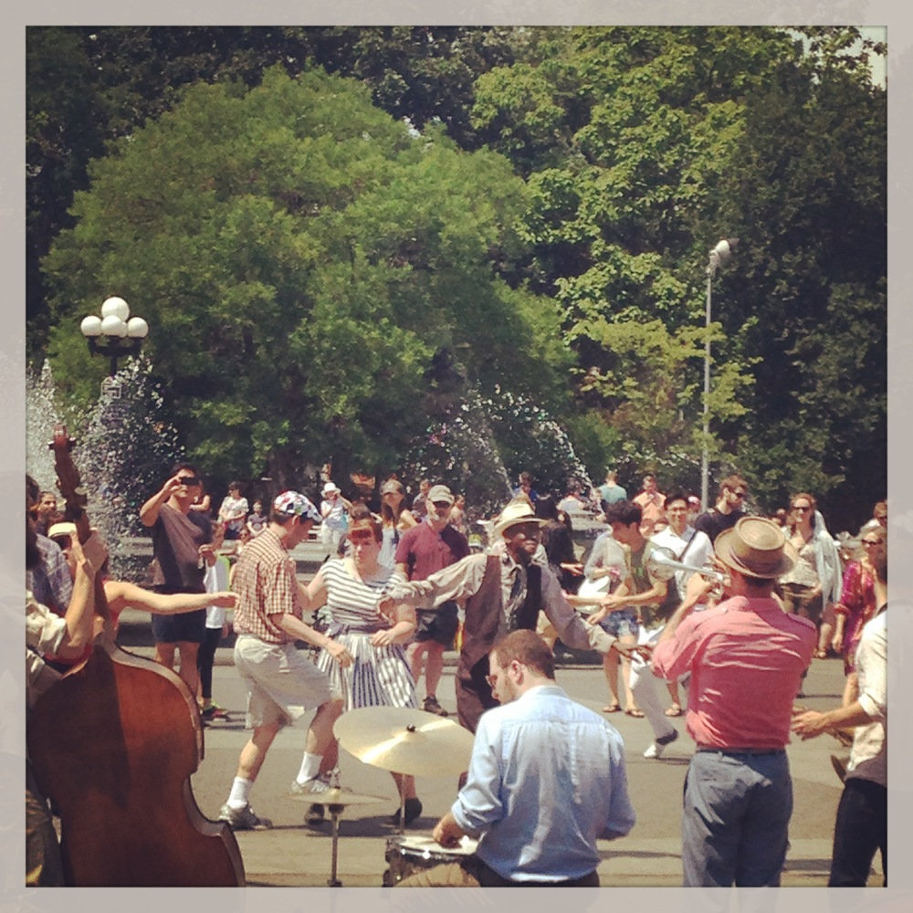 Sneak Thievery Orchestra in Washington Square Park with Babble NYC, June 2014