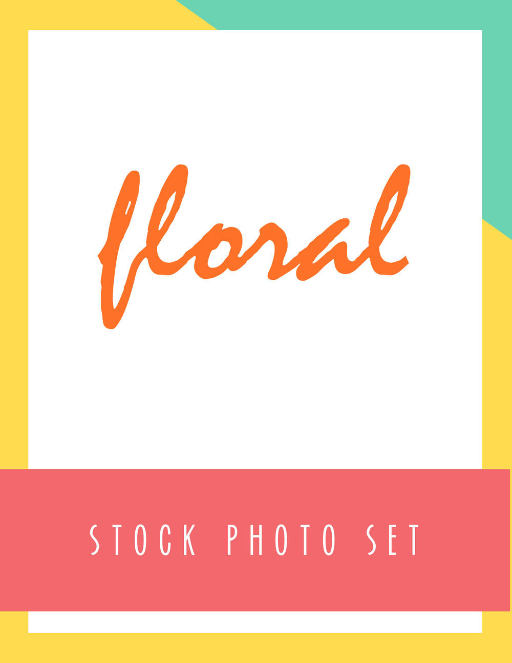Bold & Pop Floral Stock Photo Set