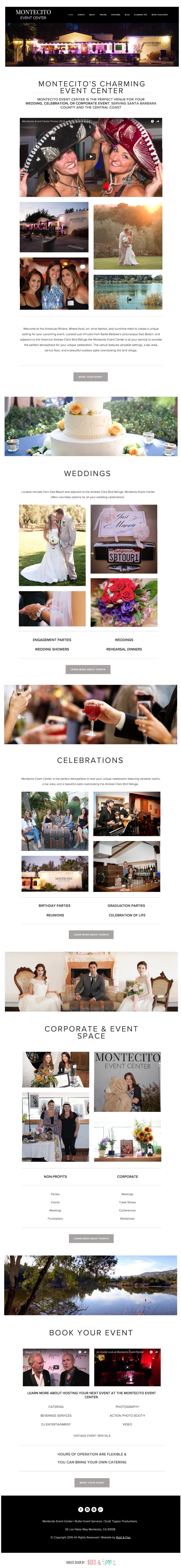 Bold & Pop : Montecito Event Center Website Refresh