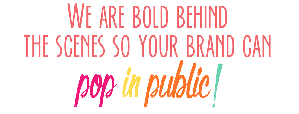 Bold & Pop : New York City and Raleigh, North Carolina Public Relations and Marketing Agency -- We are bold behind the scenes so your brand can pop in public
