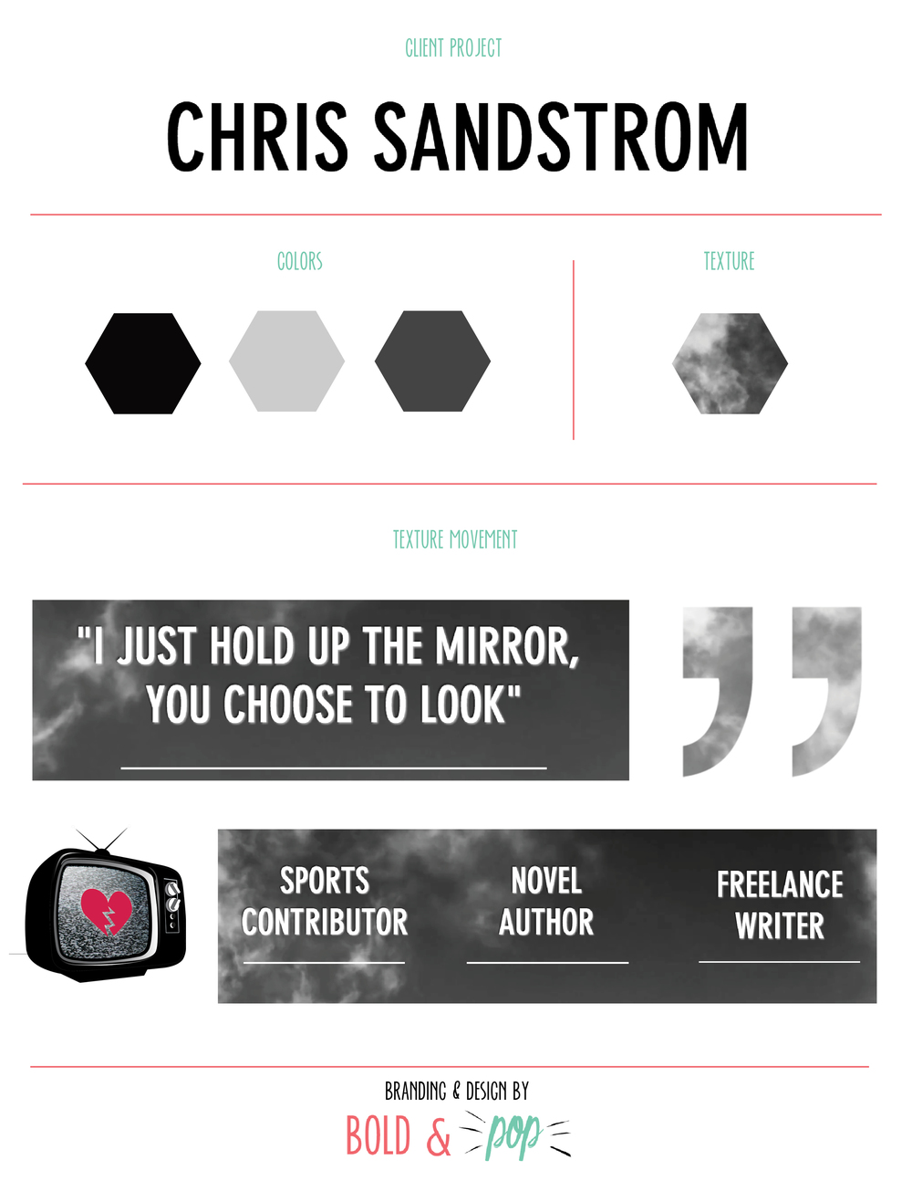 Bold & Pop : Chris Sandstrom Website Refresh