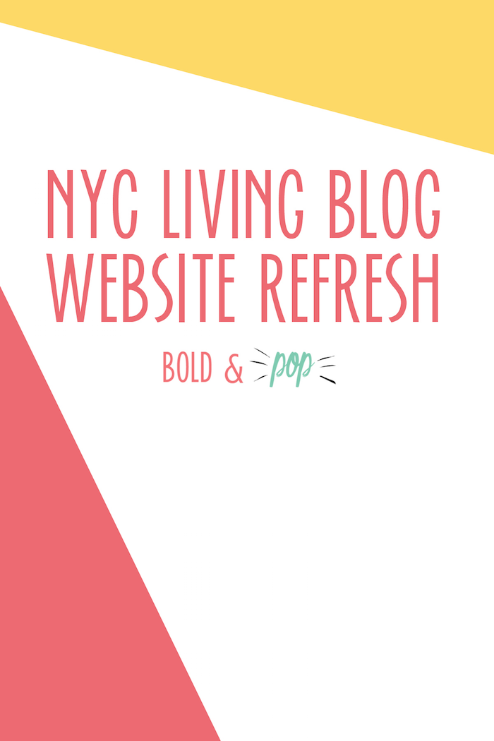 Bold & Pop :: NYC Living Lifestyle Blog Website Squarespace Design