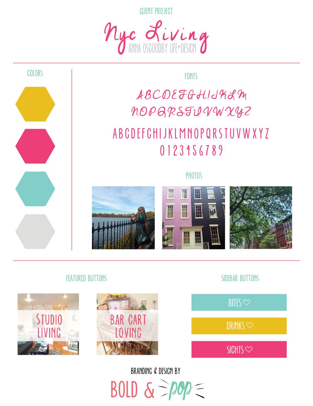 Bold & Pop :: NYC Living Lifestyle Blog Website Squarespace Design