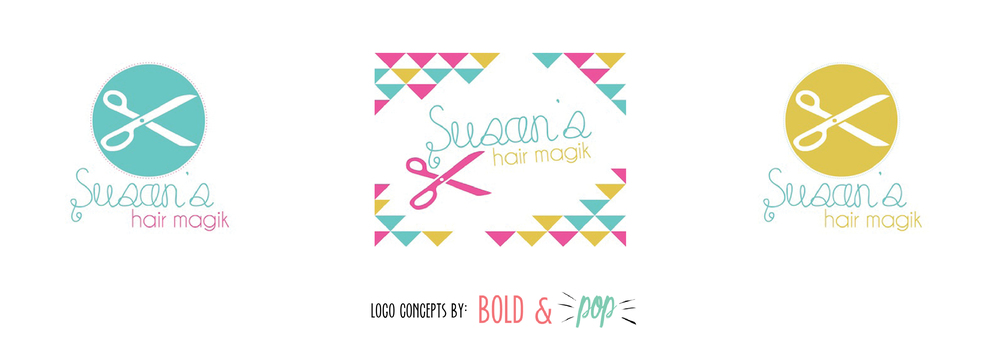 Bold & Pop : Susan's Hair Magik Branding Project