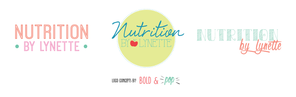 Bold & Pop : Nutrition by Lynette Branding Project