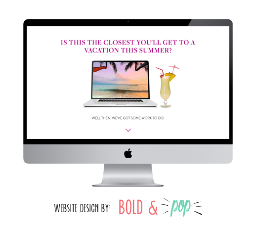 Bold & Pop : Personalized Procedures Web Design Project