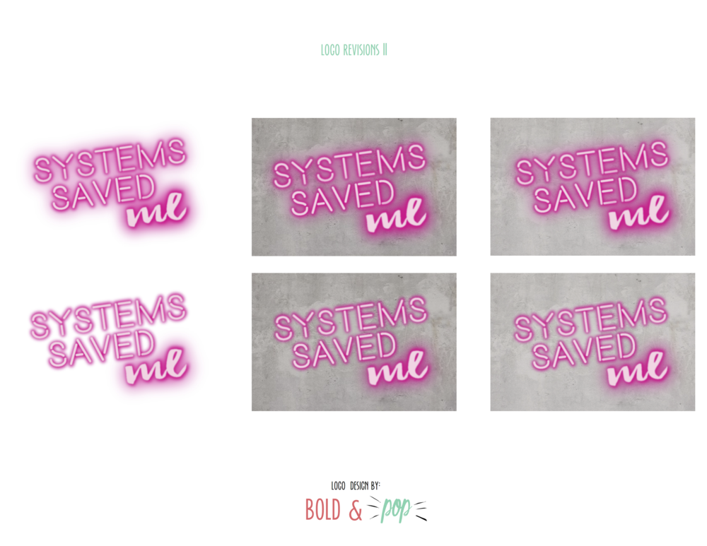 Bold & Pop : Systems Saved Me Branding Project