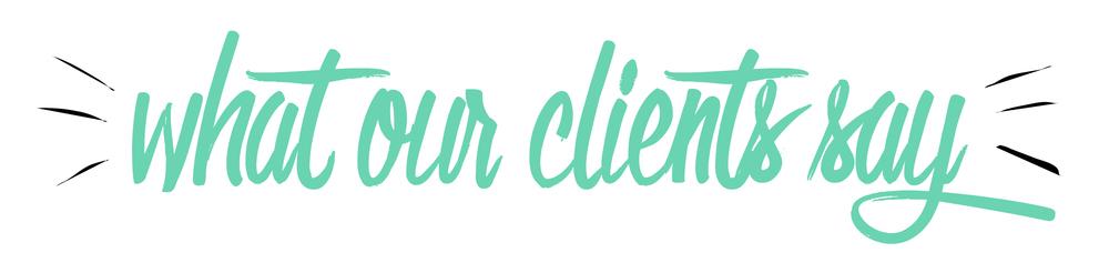 Bold & Pop Client Testimonials