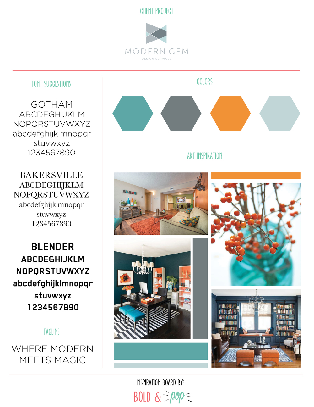 Bold & Pop : Modern Gem Design Website Design