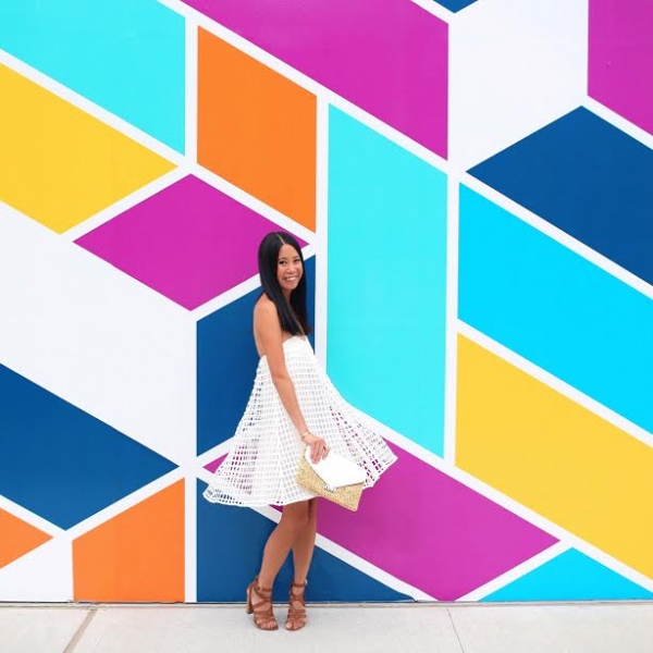 Multicolored Rhombus Wall