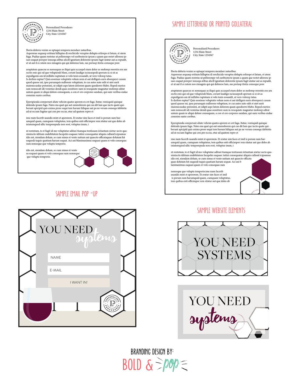 Bold & Pop : Personalized Procedures Branding Design