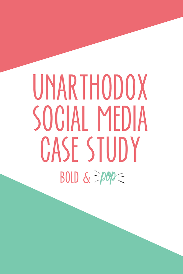 Bold & Pop : Social Media Services Unarthodox Social Media Case Study