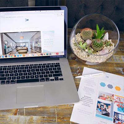 Interior Design Firm Website & Collateral Design
