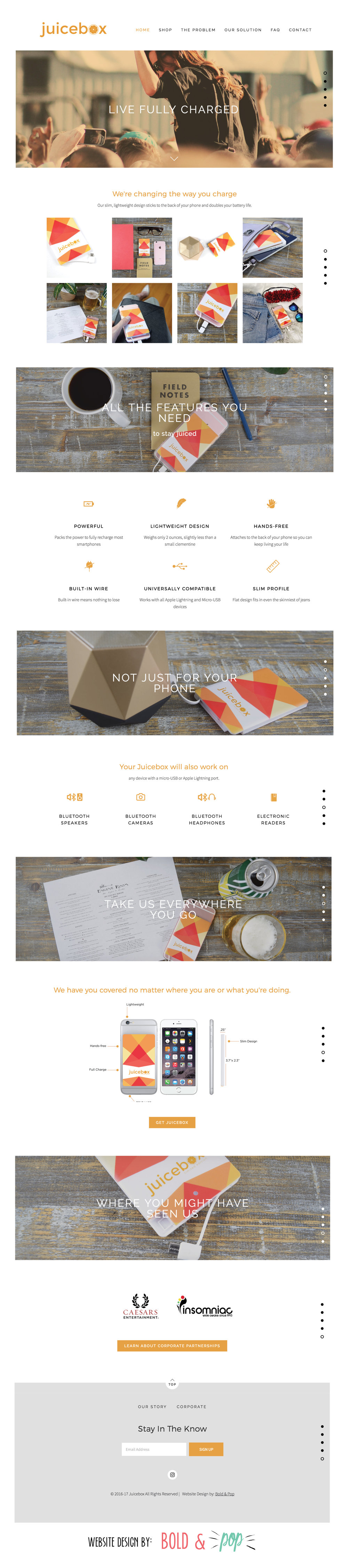 Bold & Pop : Juicebox Website Design