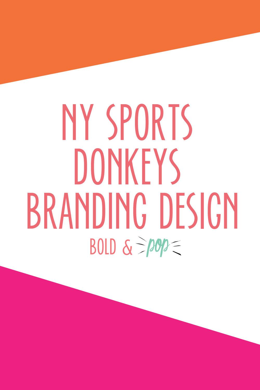 Bold & Pop : NY Sports Donkeys Branding Design -- Logo Design