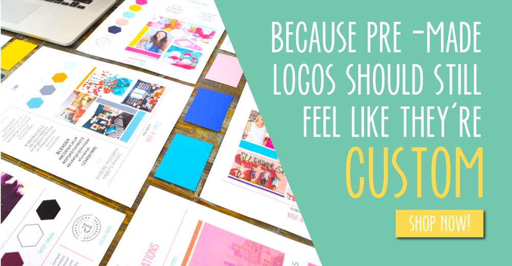 Bold & Pop #ThePopShop : Pre-made Logos + Branding