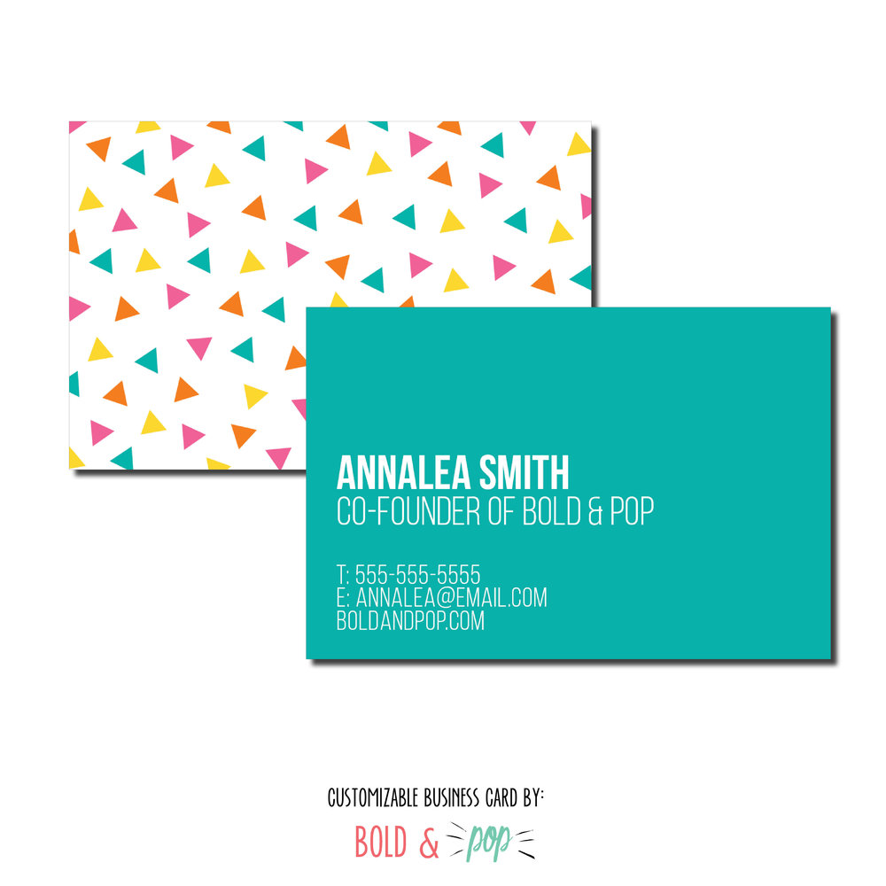 Confetti business card template bold pop social media pr confetti business card template flashek Gallery