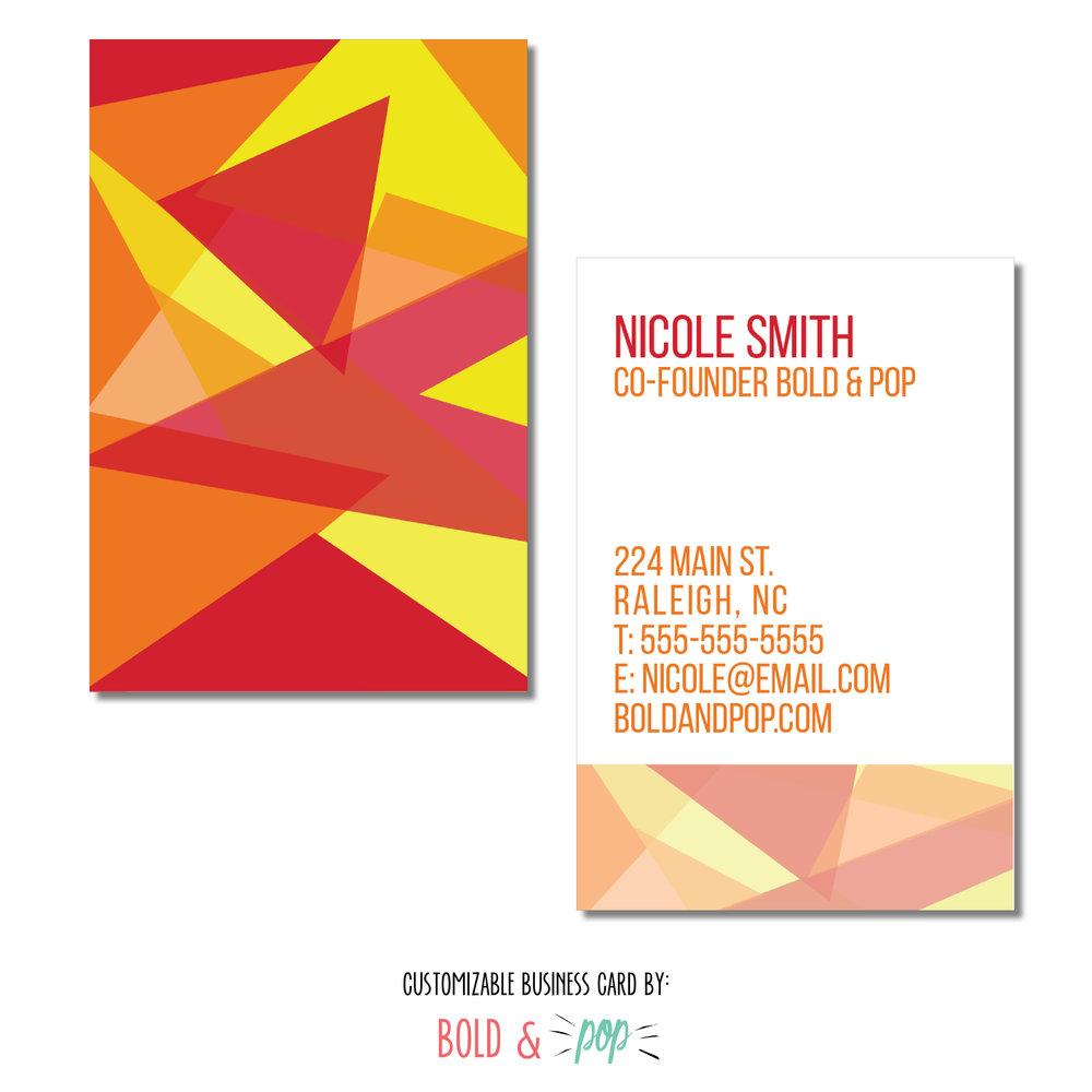 Fire mosaic business card template bold pop social media pr fire mosaic business card template reheart Images
