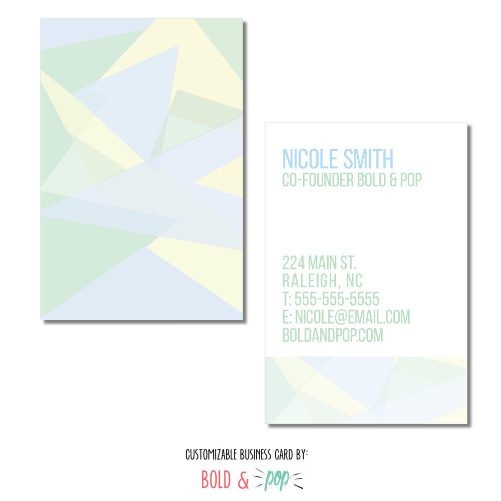 pastel mosaic business card template bold pop social media pr
