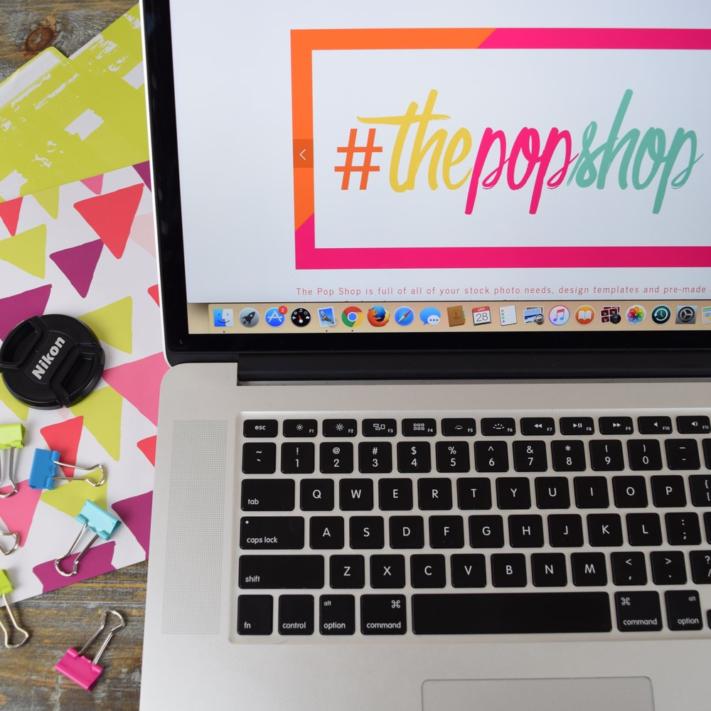 Bold & Pop #ThePopShop :: The Pop Shop Stock Photos, Pre-made logos and branding, and DIY design templates
