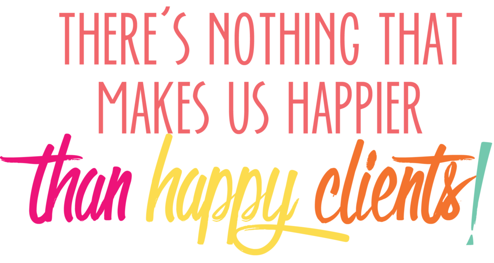 Bold & Pop Testimonials: There's nothing that makes us happier than happy clients