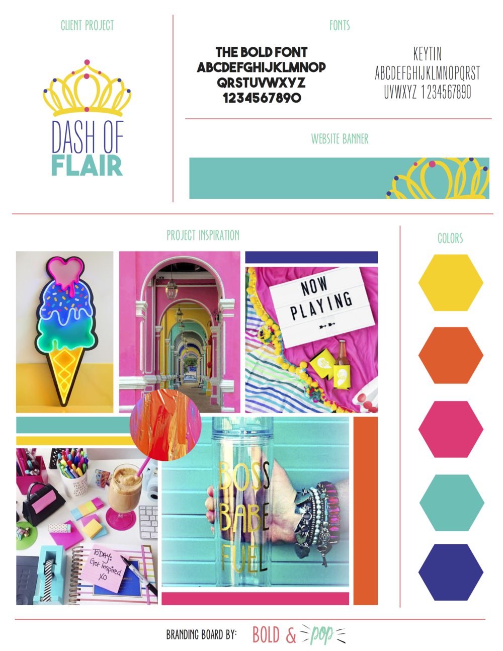 Bold & Pop : Dash of Flair Branding & Website Design