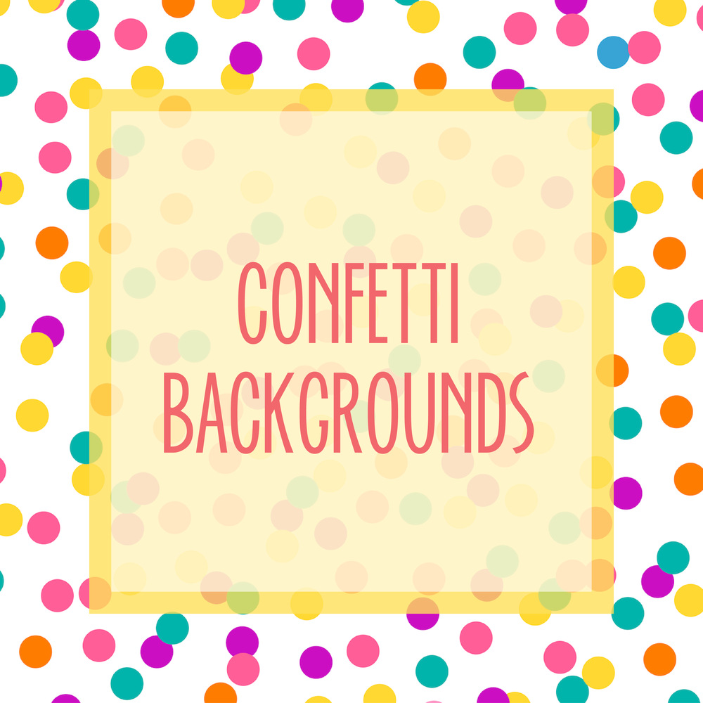 Bold & Pop : Bold Boss Resource Library Confetti Backgrounds
