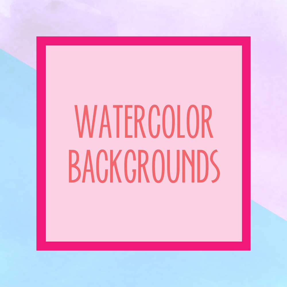 Bold & Pop : Bold Boss Resource Library Watercolor Backgrounds