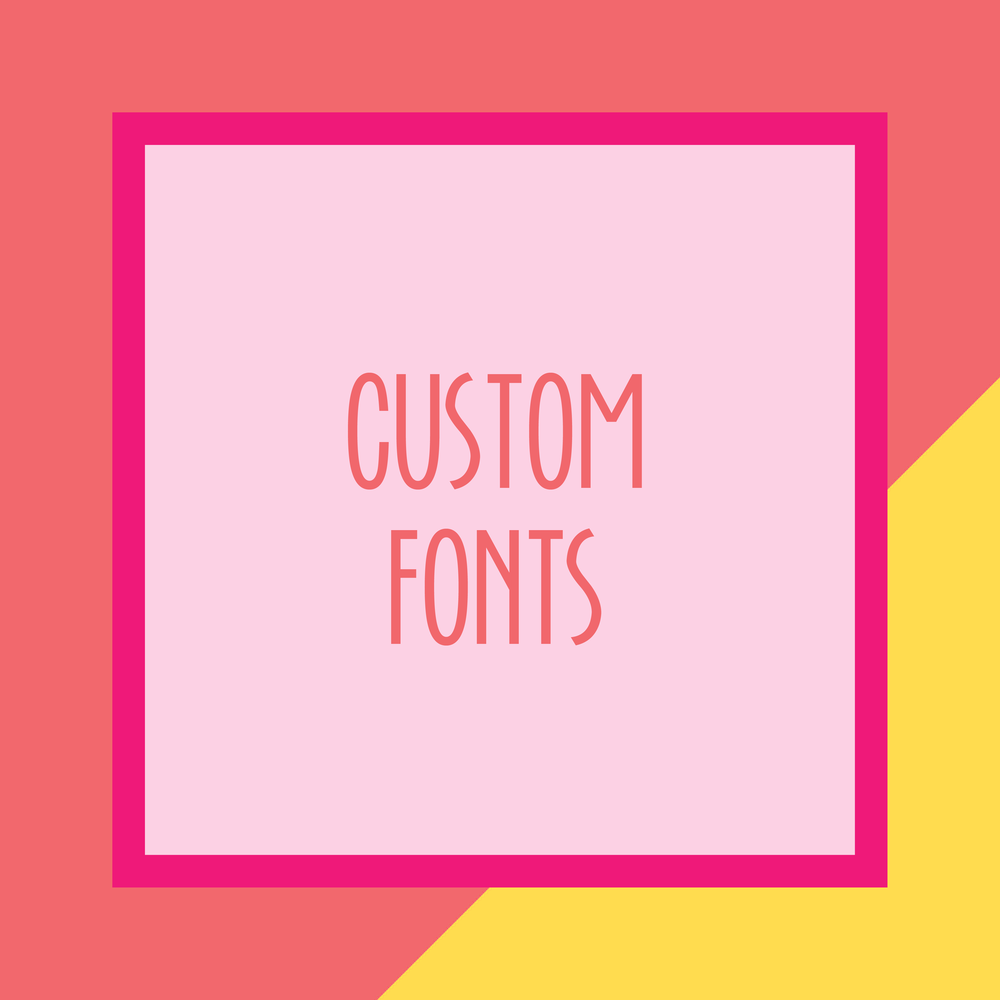 Bold & Pop : Bold Boss Resource Library Custom Fonts for Squarespace