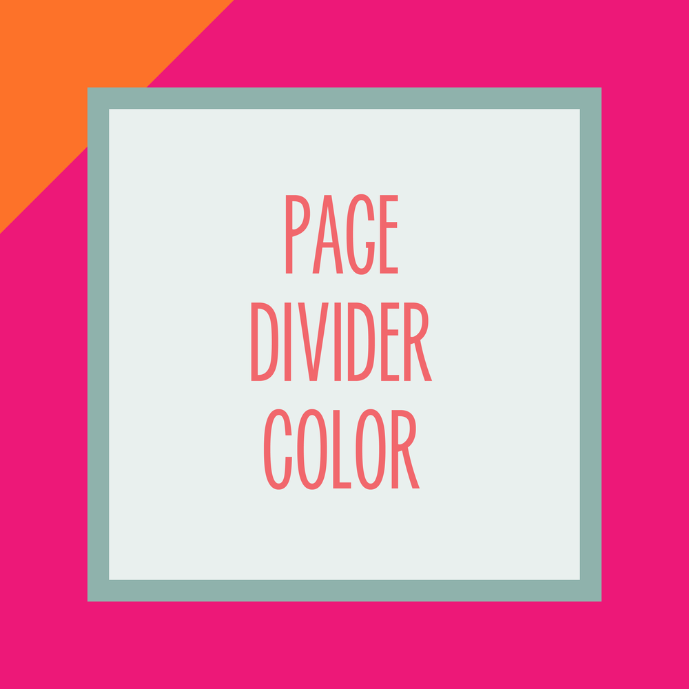 Bold & Pop : Bold Boss Resource Library Page Divider Color on Squarespace