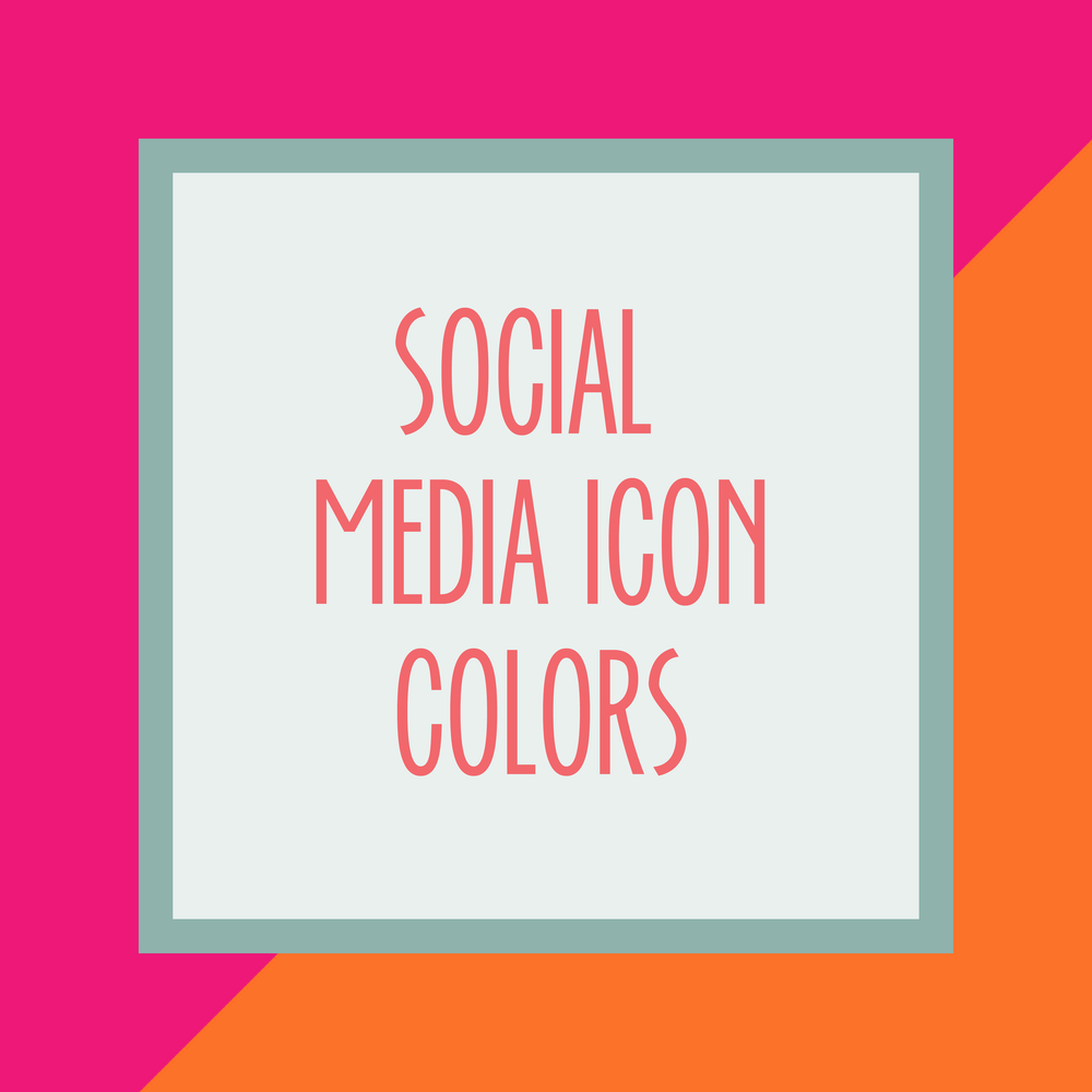 Bold & Pop : Bold Boss Resource Library Social Media Icon Colors for Squarespace