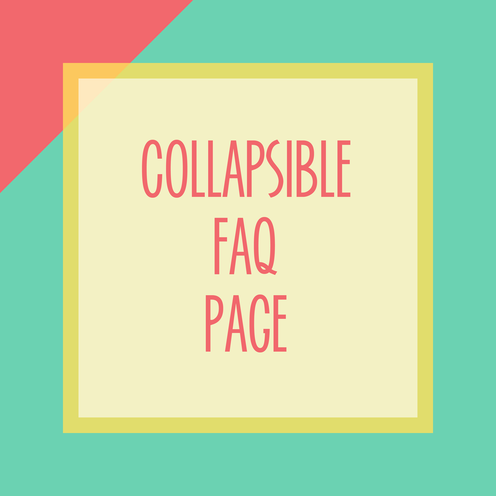 Bold & Pop : Bold Boss Resource Library Collapsible FAQ for Squarespace