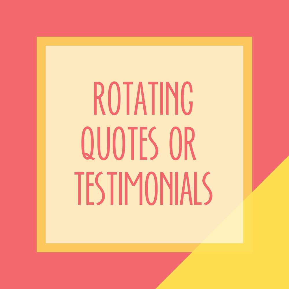 Bold & Pop : Bold Boss Resource Library Rotating Quotes or Testimonials on Squarespace