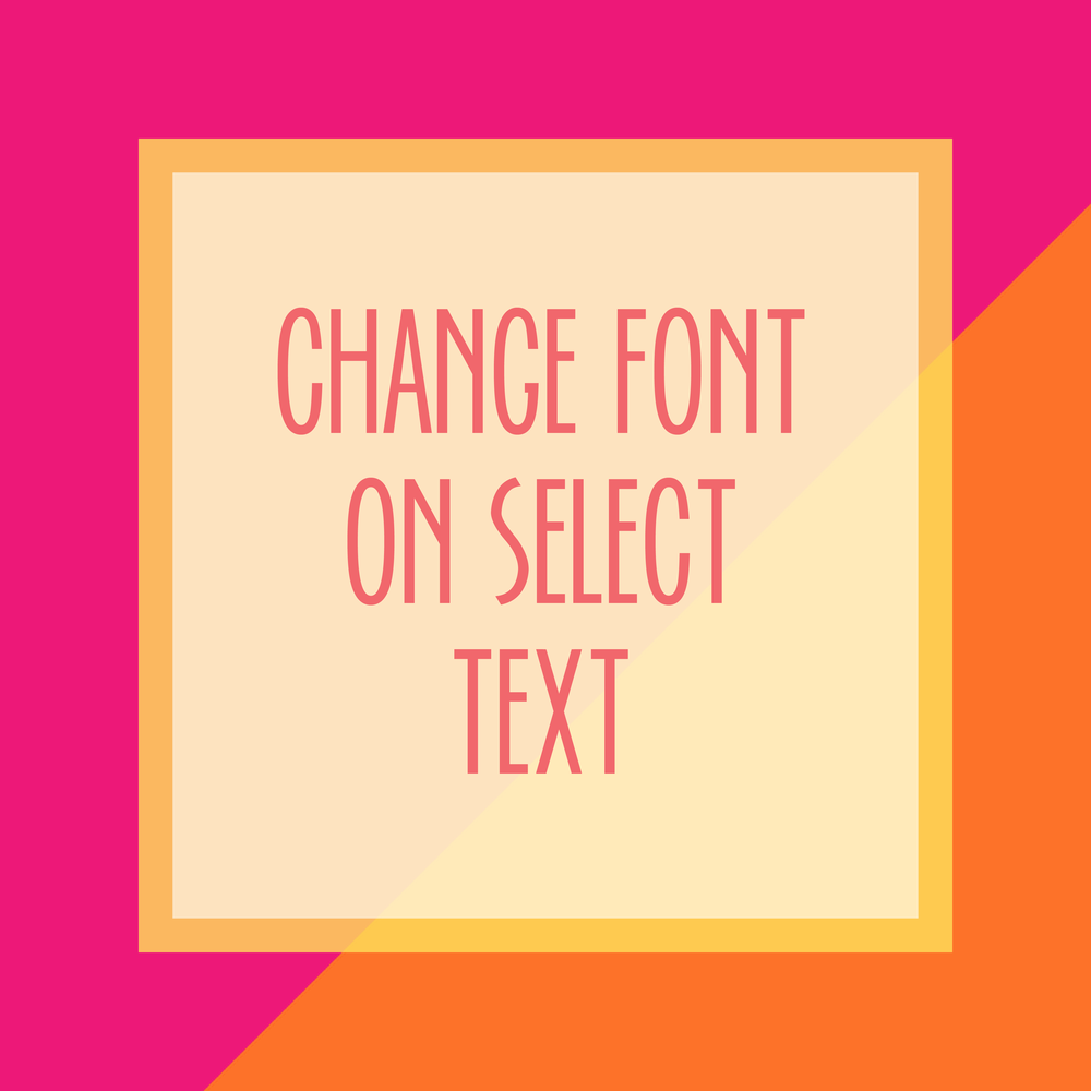 Bold & Pop : Bold Boss Resource Library Change Font on Select Text on Squarespace