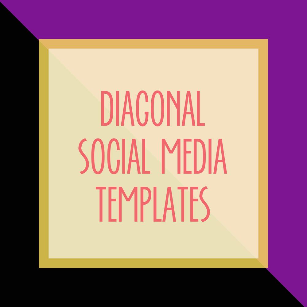 Bold & Pop : Bold Boss Resource Library Diagonal Social Media Templates