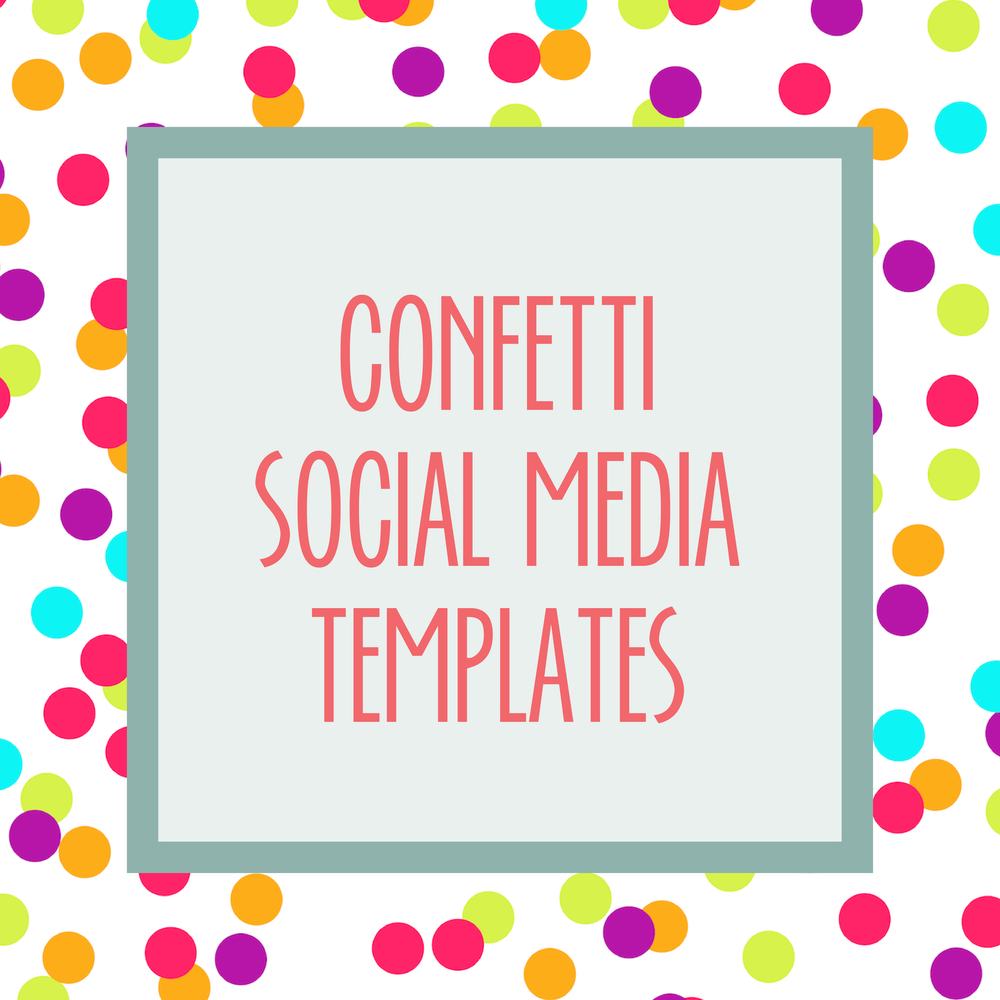 Bold & Pop : Bold Boss Resource Library Confetti Social Media Templates