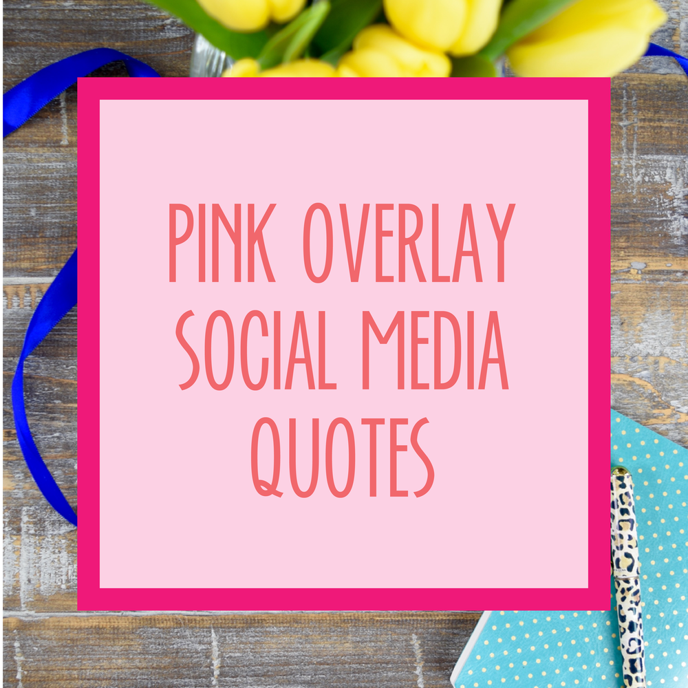 Bold & Pop : Bold Boss Resource Library Pink Overlay Social Media Quotes