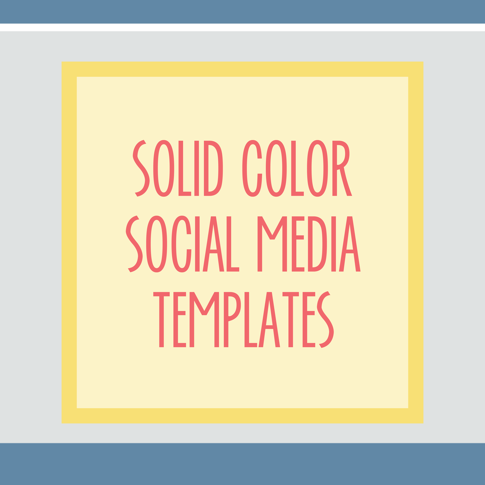 Bold & Pop : Bold Boss Resource Library Solid Color Social Media Templates
