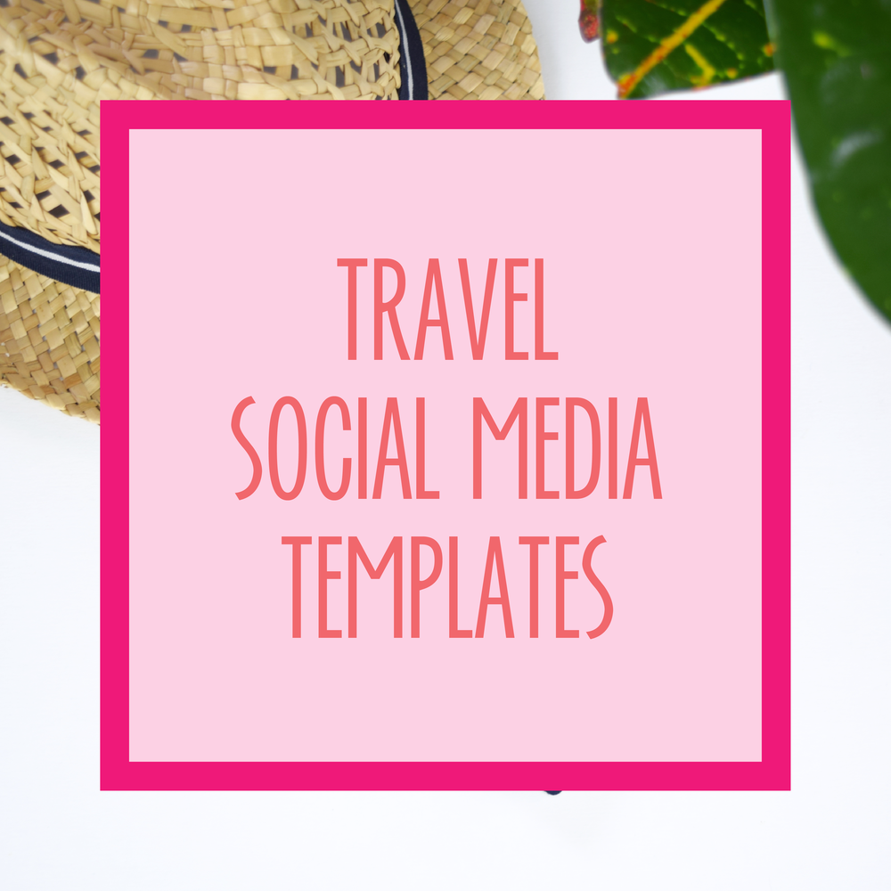 Bold & Pop : Bold Boss Resource Library Travel Social Media Templates