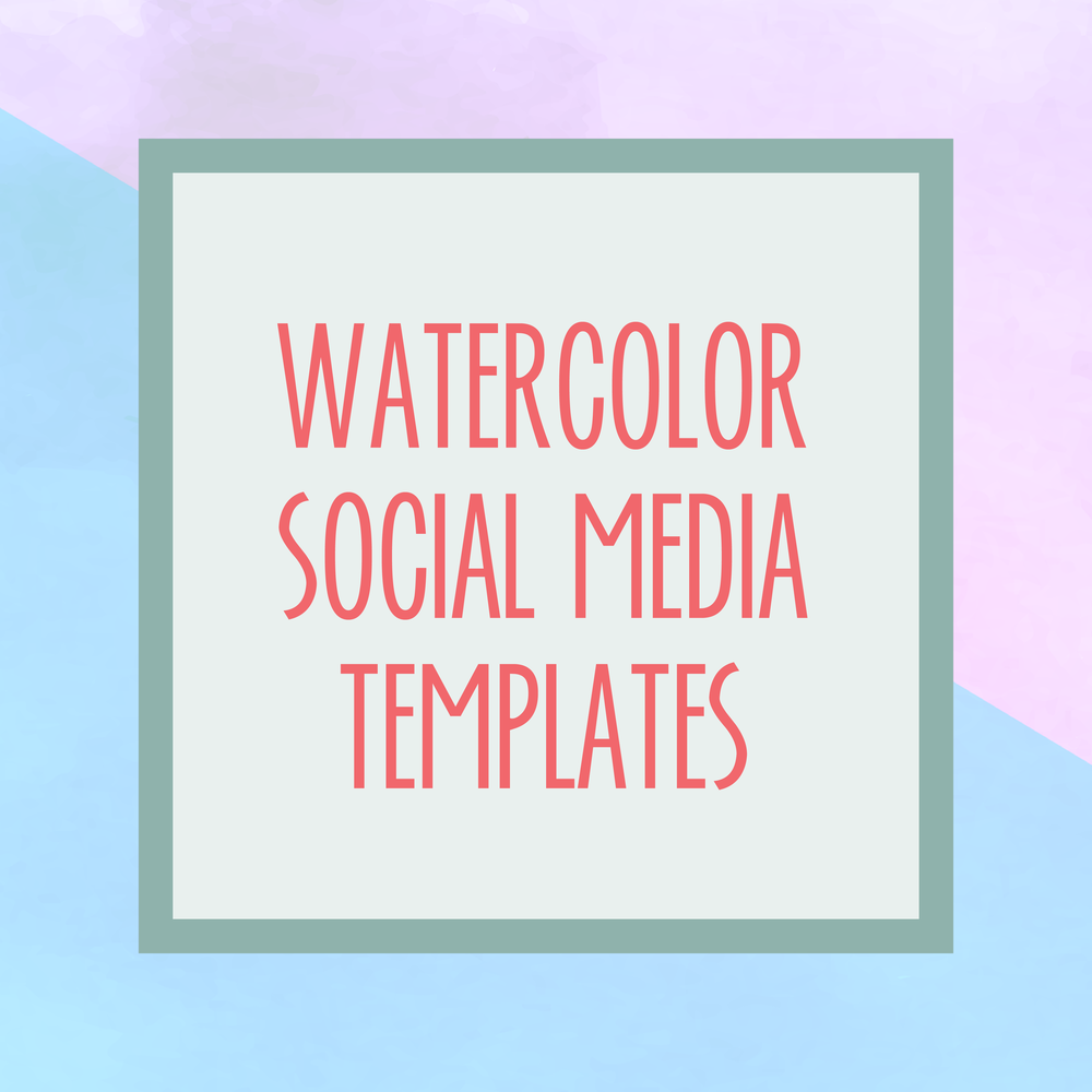 Bold & Pop : Bold Boss Resource Library Watercolor Social Media Templates