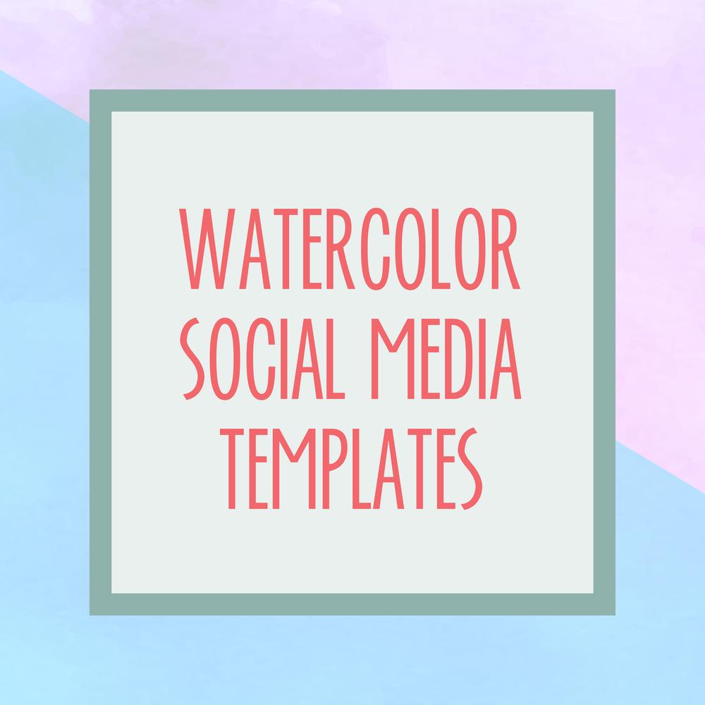 Bold & Pop : Bold Boss Resource Library Watercolor Social Media Templates