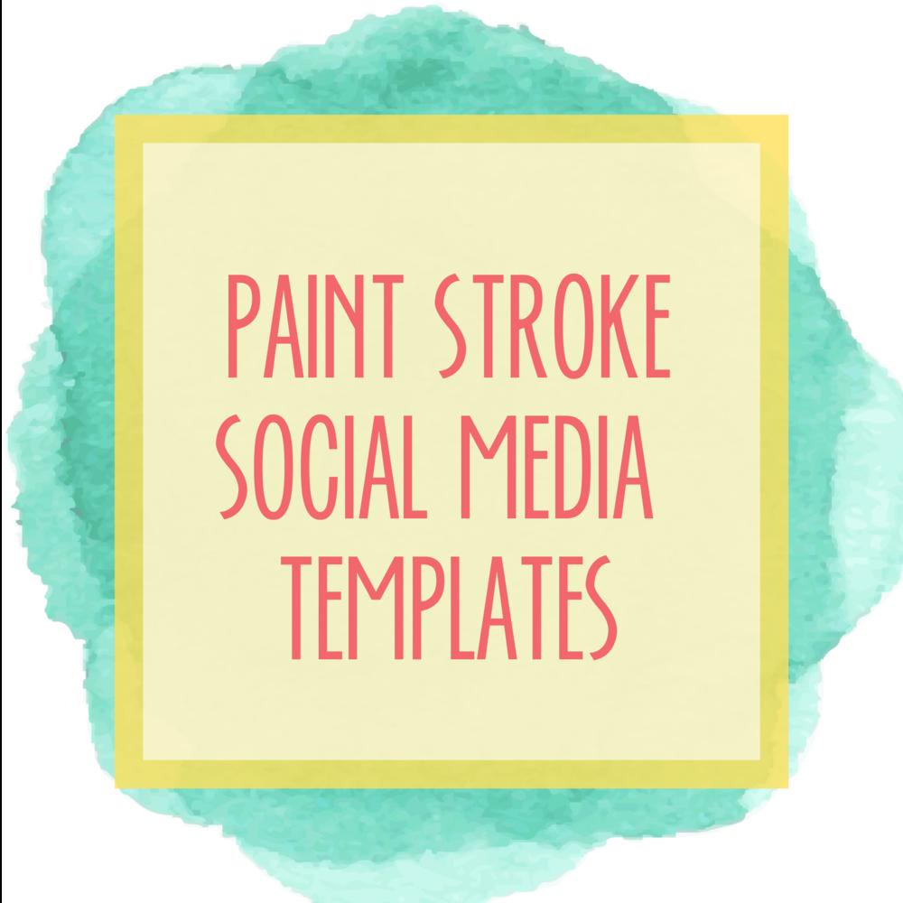 Bold & Pop : Bold Boss Resource Library Paint Stroke Social Media Templates