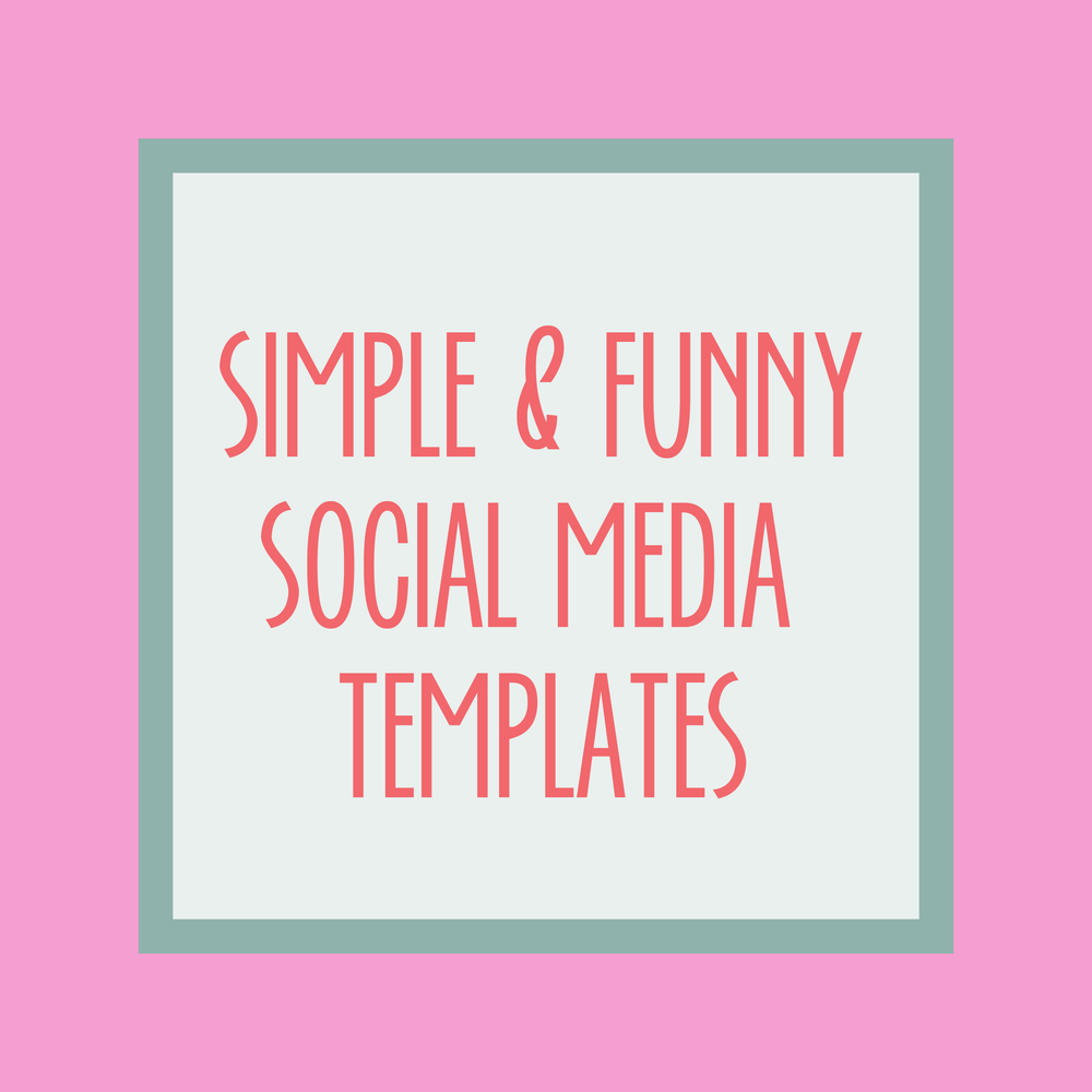 Bold & Pop Resource Library : Simple & Funny Social Media Templates