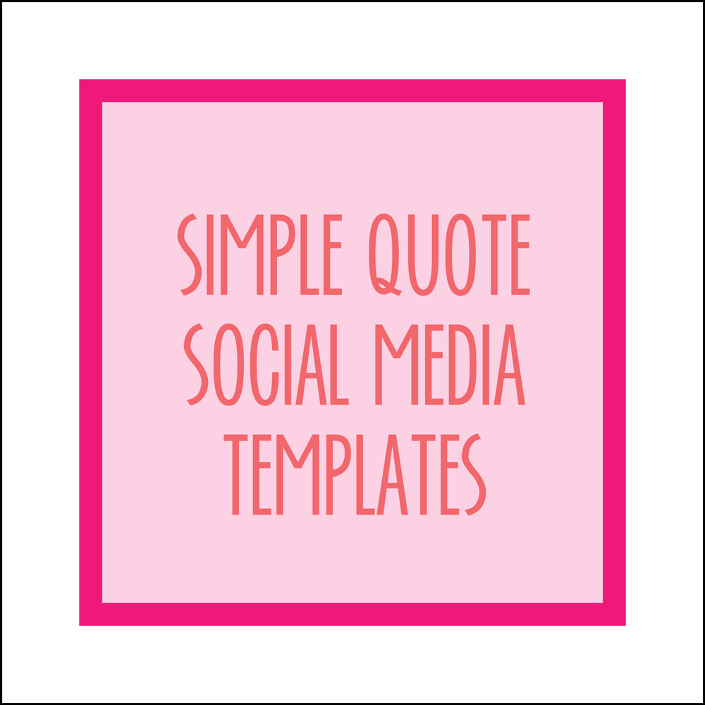 Bold & Pop : Simple Quote Social Media Templates
