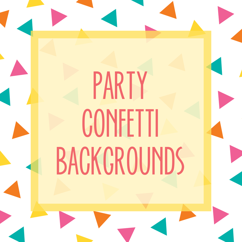 Bold & Pop Bold Boss Resource Library Party Confetti Backgrounds